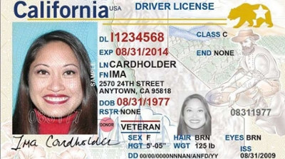 How many numbers and letters are on a CA drivers license number? (What is the format?)?